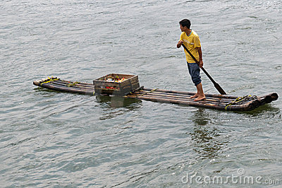 River raft merchant Editorial Photo