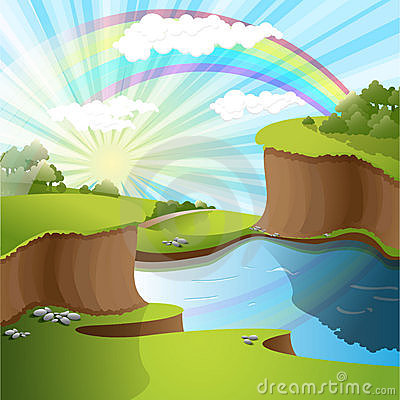 River and rainbow