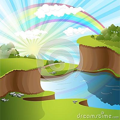 Le Ciel : un lieu beaucoup plus exaltant que vous pouvez l'imaginer River-and-rainbow-thumb15228438