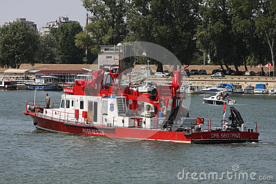River rescue ship Editorial Image