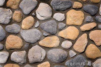 River rock wall background texture