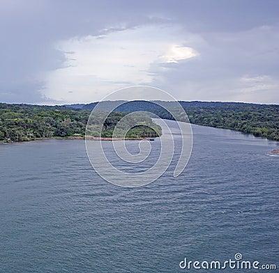 The river runs into Pacific ocean