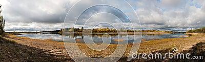River in russian taiga