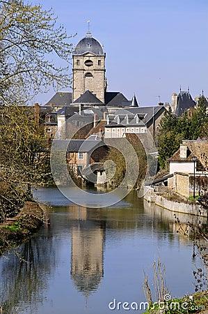 River Sarthe at Alençon in France