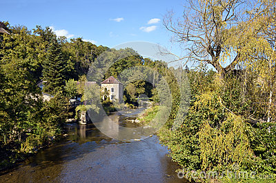 The river Sarthe at Saint-Ceneri-le-Gerei