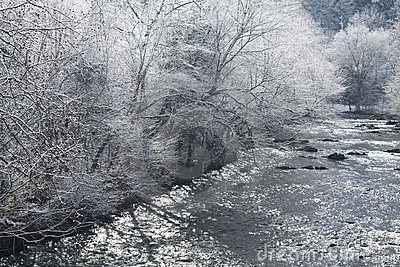River, Snowy Landscape, Sevier County