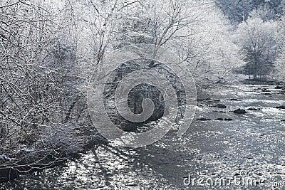 River, Snowy Landscape, Sevier County
