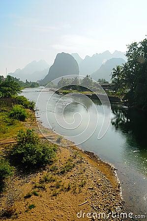 River Song in Vang Vieng, Laos.