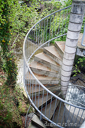 River stairs