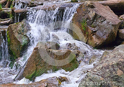 River stones waterfall
