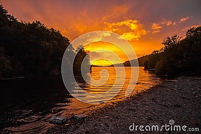 River During Sunset Free Public Domain Cc0 Image