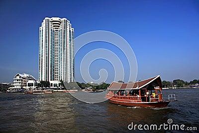 River taxi,Bangkok,Thailand Editorial Stock Image