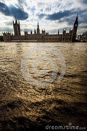 River Thames and Houses of Parliament, London