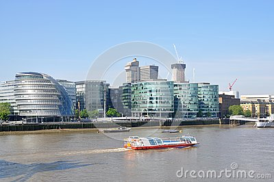 The river Thames in London