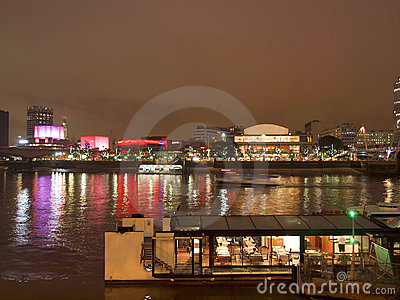 River Thames South Bank, London