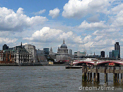River Thames View Of St Pauls