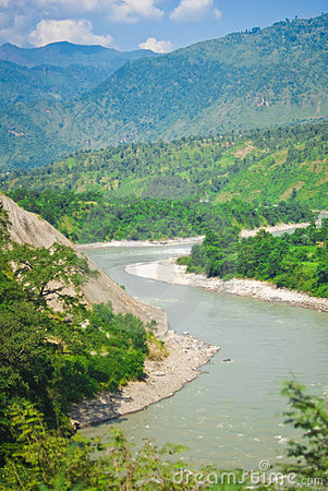 River in Tibetan countryside