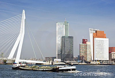 River transport in Rotterdam