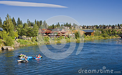 River Tubing, Bend, Oregon Editorial Stock Image