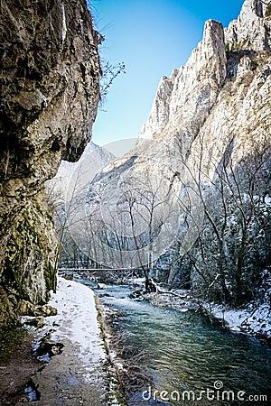 Free River - Turda Gorge - Cheile Turzii, Transylvania, Romania Stock Image - 51802381