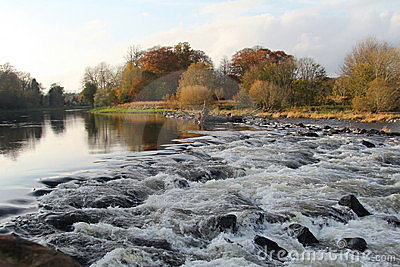 River Tweed, Scotland in Autumn