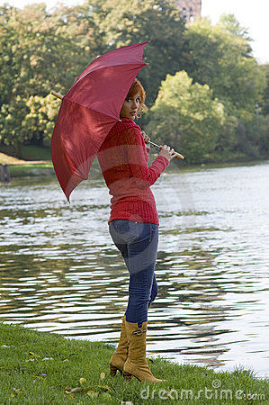 River and umbrella