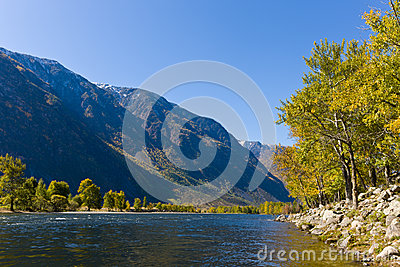 River in valley