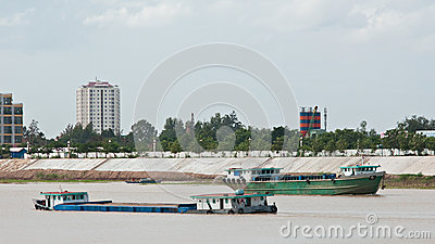 River vessels in Cambodia