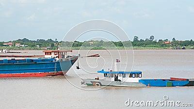 River vessels in Cambodia