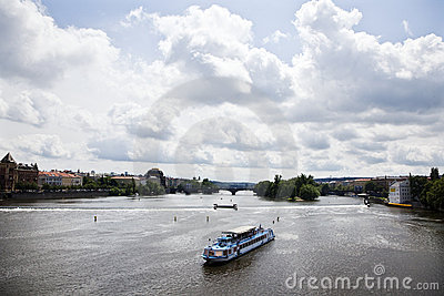 River Vltava on Prague
