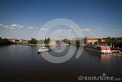 River Vltava in Prague