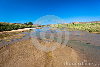 River Water Sand Wide Banks Low