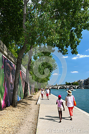 Riverbank of the Seine, Paris, France. Editorial Photography