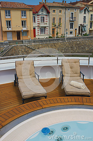 Riverboat Deck, Rhone River, France