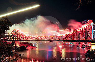 Riverfire Festival in Brisbane Editorial Photography