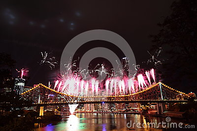Riverfire Festival in Brisbane Editorial Photo