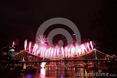 Riverfire Festival in Brisbane Editorial Stock Image