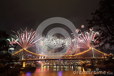 Riverfire Festival in Brisbane Editorial Image