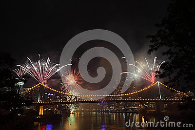 Riverfire Festival in Brisbane Editorial Stock Photo