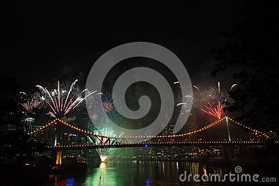 Riverfire Festival in Brisbane Editorial Photography