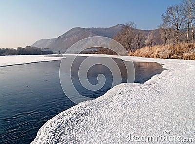 Riverheads of Ussuri in the winter