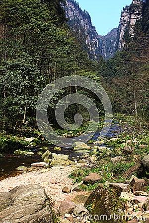 Rivers in zhangjiajie mountains