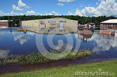 Riverside Arena in Flood Editorial Image