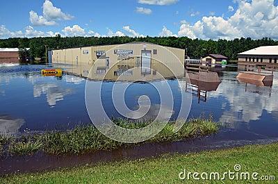 Riverside Arena in Flood Editorial Image