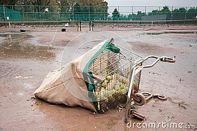 Riverside Park after Hurricane Sandy Editorial Stock Photo