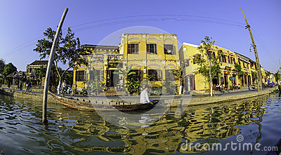 Hoi-an riverside view 2 Editorial Stock Photo