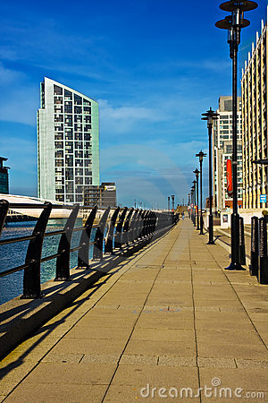 Riverside walk in Liverpool