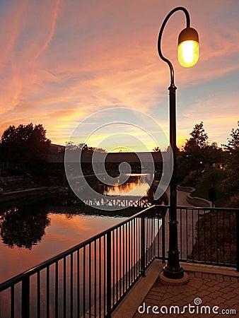 Free Riverwalk At Sunset Stock Photos - 70711803