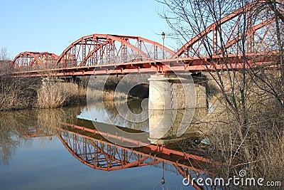 Rivesta di ferro il dela Reina Talavera, Toledo, Spagna del ponte