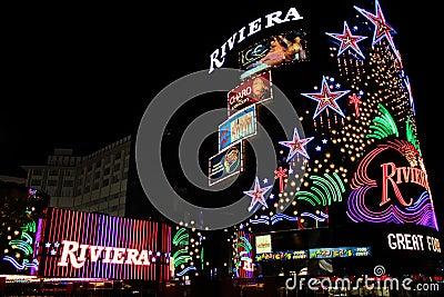 Riviera Hotel and Casino Editorial Stock Photo